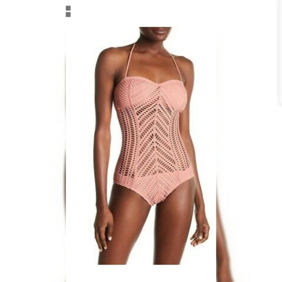 9c72222050 Robin Piccone Swim   Sophia One Piece Crochet Suit   Poshmark
